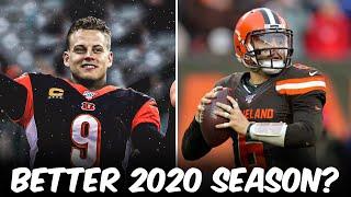 Better 2020 Season: Joe Burrow Or  Baker Mayfield