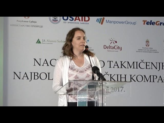 Pomoćnica ministra Katarina Obradović Jovanović o podršci programu učeničkih kompanija