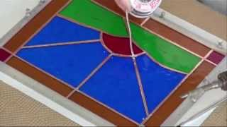 How to Solder Your Stained Glass Panel