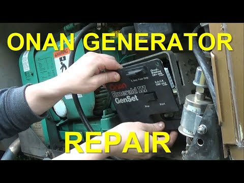 Onan Generator Repair | Replacing Control Board & Voltage regulator
