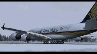 [FS2004 HD] Singapore Airlines A380 Departure from Zurich/Kloten Airport