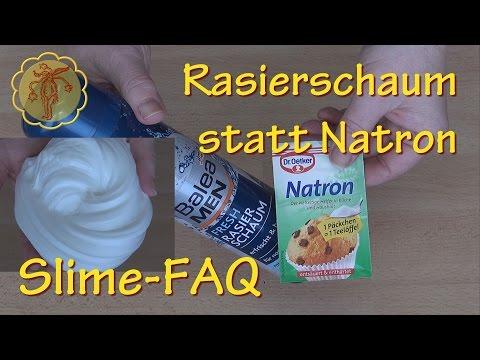 Slime-FAQ: Was kann man anstelle von Natron nehmen?