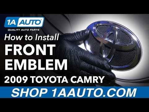 How to Install Replace Front Emblem Badge Nameplate 2009 Toyota Camry