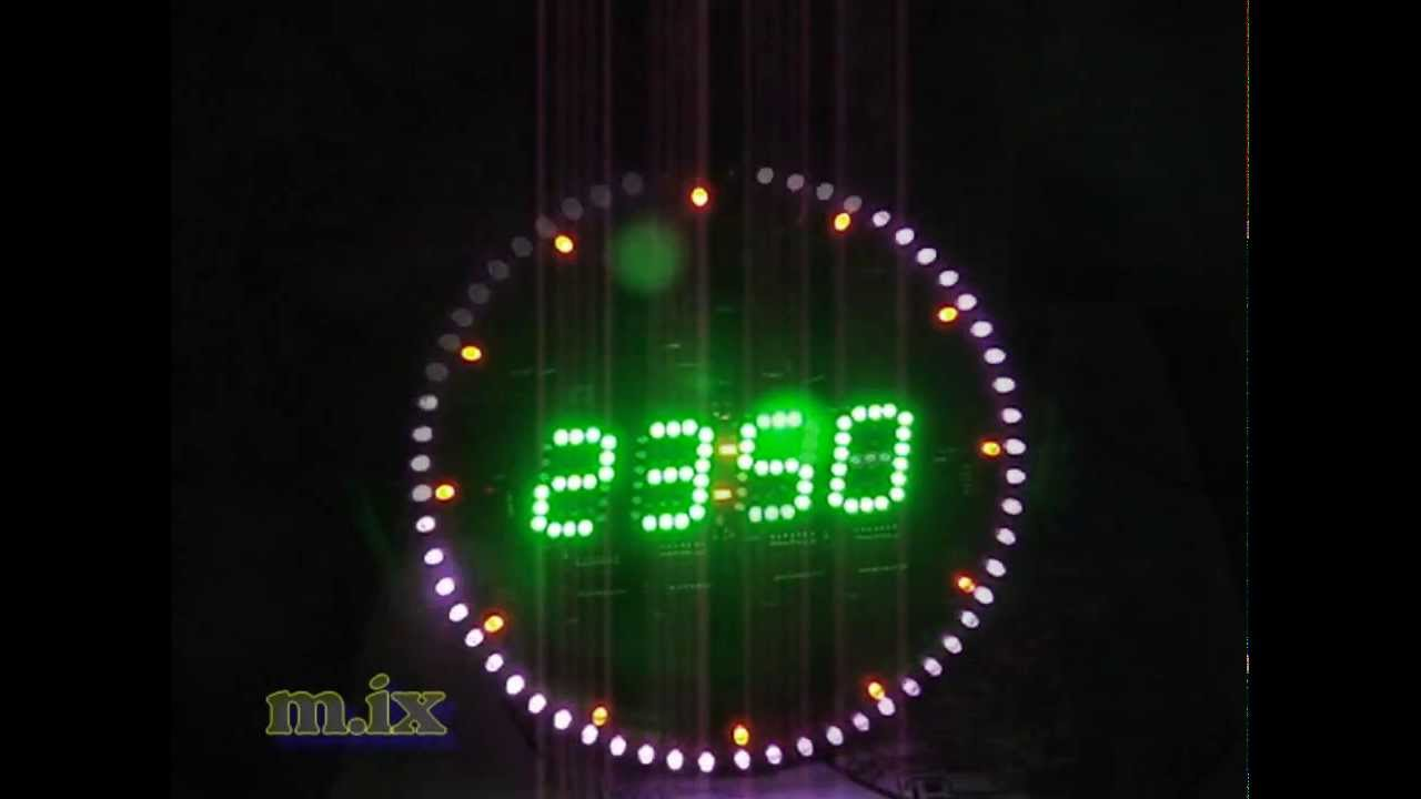Around Digit Led Clock 60 Led 160 Led Wall Clock 03 Youtube