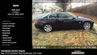Used 2008 BMW 3 Series | Sunrise Auto Sales, Rosedale, NY