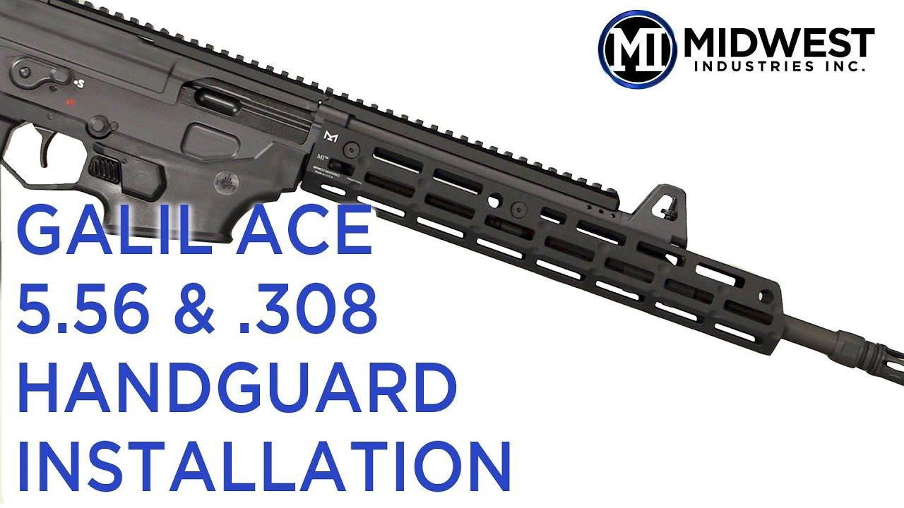 MI-GA556P MI Galil Ace 5 56mm Pistol Length Handguard, M-LOK(TM) compatible