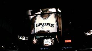 San Antonio Spurs Intro Movie plus 10/30/15 Player Introductions. VS Brooklyn Nets