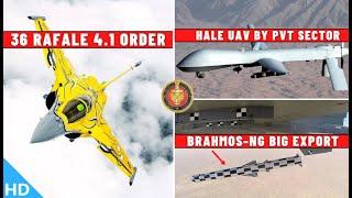Indian Defence Updates : 36 Rafale F4.1,BrahMos-NG Big Export,HALE UAV Pvt Sector,C295 Deal Signing