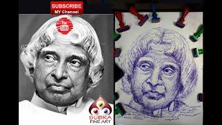Dr.Apj. Abdul Kalam Portrait | Abdul Kalam Portrait Art | Abdul Kalam | ஏவுகணை நாயகன்
