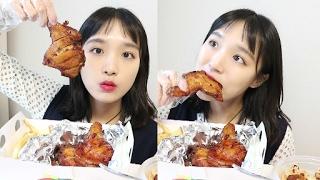 자메이카 통다리 구이 _ 드디어 드디어! 먹어봤어요♡, 치밥, BBQ, 치킨 먹방, Eating show :D