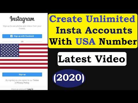 How To Create Unlimited Fake Instagram ID With US Number ? Only One Minutes (2020) !