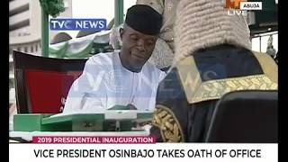 Vice President Osinbajo takes Oath of office during the 2019 Presidential inauguration