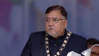 Cllr Raj Sharma, Mayor Crawley Borough Council at Jalsa Salana UK 2016