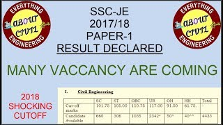 SSC JE 2017/2018 PAPER 1 RESULT WITH ANALYSIS - DON'T LOSE YOUR HOPE