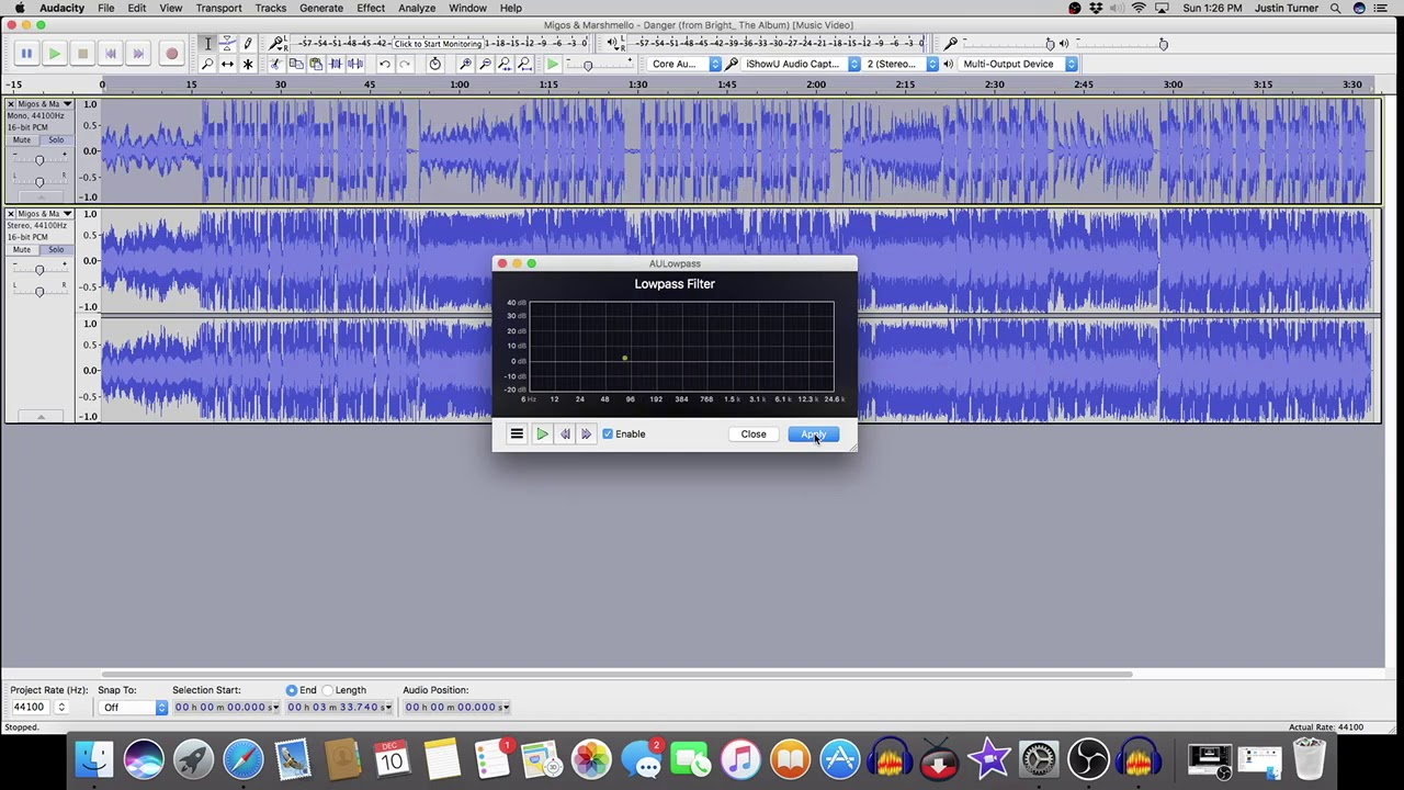 audacity tutorial mac os x