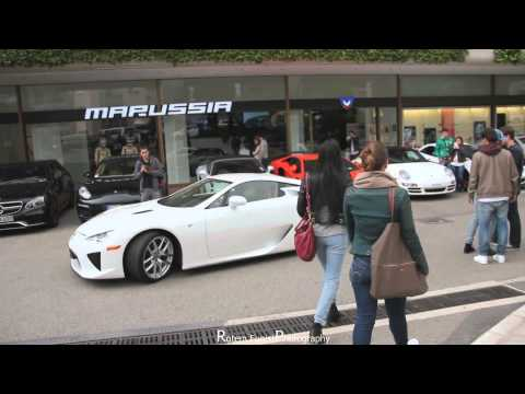 Lexus LFA Start up Acceleration in Monaco