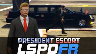 GTA 5 LSPDFR Online - Presidential Motorcade Escort To Marine One (with Mods)