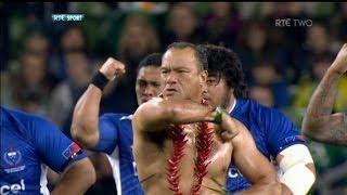 Brian Lima leads Samoa in Siva Tau tribute to Peter Fatialofa | RTÉ Rugby