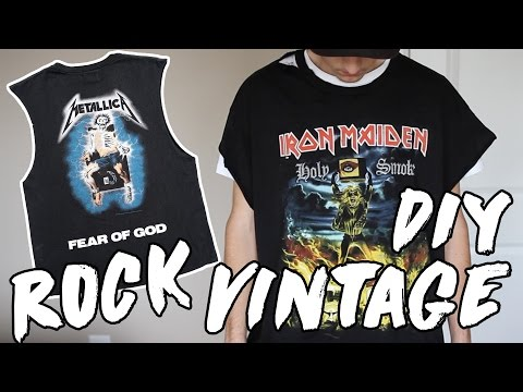 How To Make A Vintage Rock Shirt