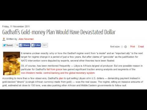 Muammar Gadhafi's Gold-money Plan Would Have Devastated Dollar