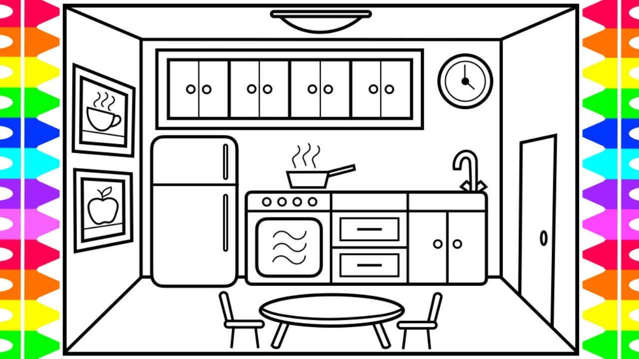 Kitchen Design Easy Drawing Kitchens Design Ideas And