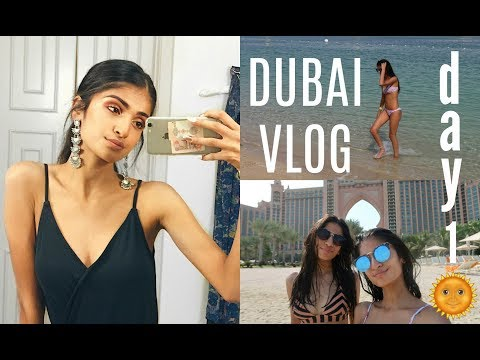 DUBAI VLOG DAY 1 🌞 ARRIVING TO ATLANTIS HOTEL IN 40 DEGREE HEAT