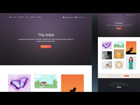 Create a Artist Portfolio Website In Photoshop - Step by Step