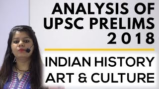 Analysis of UPSC Prelims 2018 | Indian History, Art & Culture