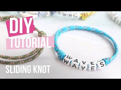 Come realizzare gioielli: Tecnica del nodo scorrevole con cordoncino tubolare intrecciato