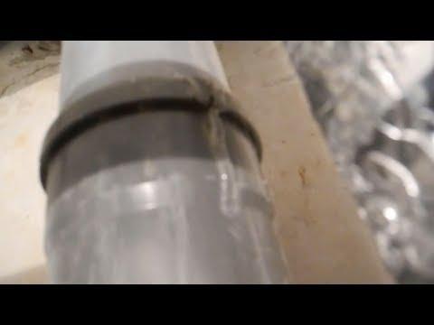 Лопнула канализационная труба,как отремонтировать
