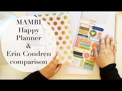 MAMBI Happy Planner | Review, Erin Condren Comparison + Accessories Haul!
