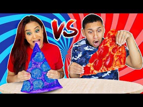 RED VS BLUE FOOD CHALLENGE!