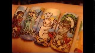 Magiczna wyspa nail art magical island wzorki na paznokcie