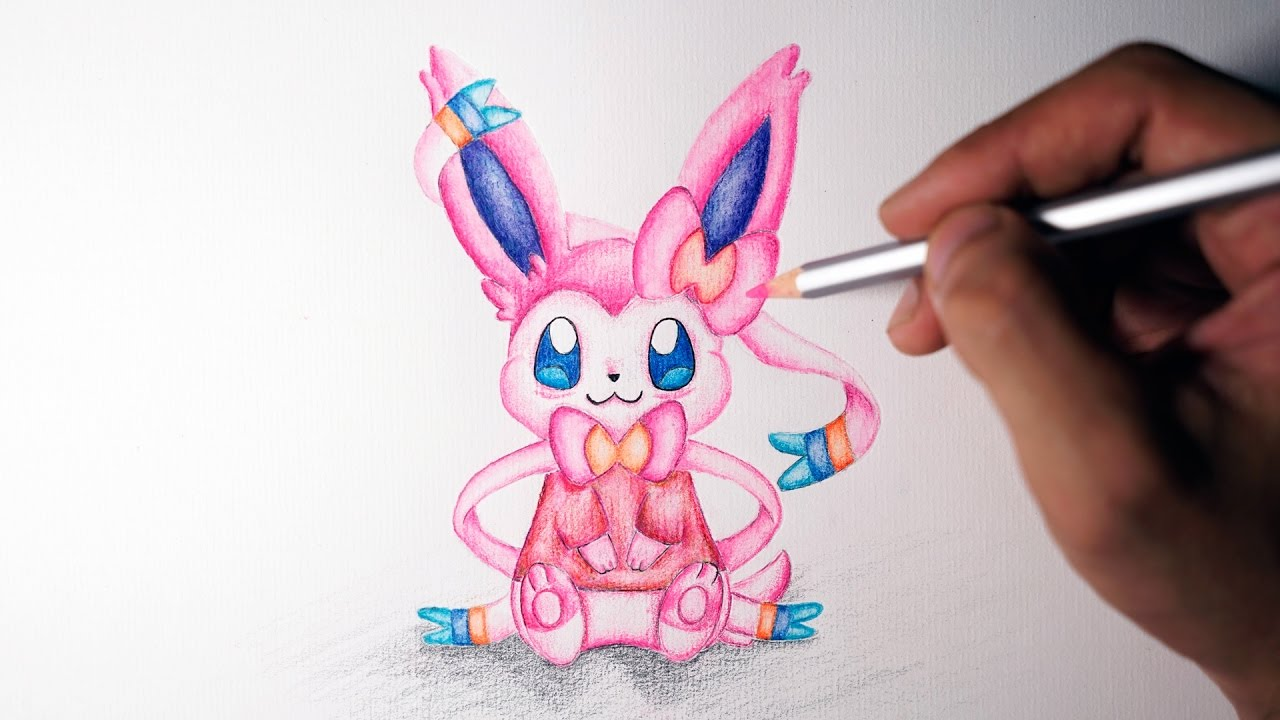 Eevee Evolution How To Draw Sylveon Cute Version Youtube