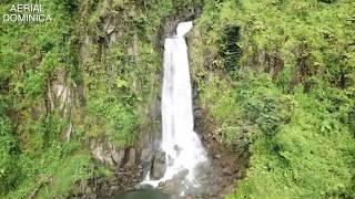 DOMINICA TRAFALGA FALLS 2018 AERIAL SHOT - AERIAL  DOMINICA