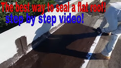 Low slope Roofing Repairs :   The best way to seal a flat roof permanent ,step by step!!