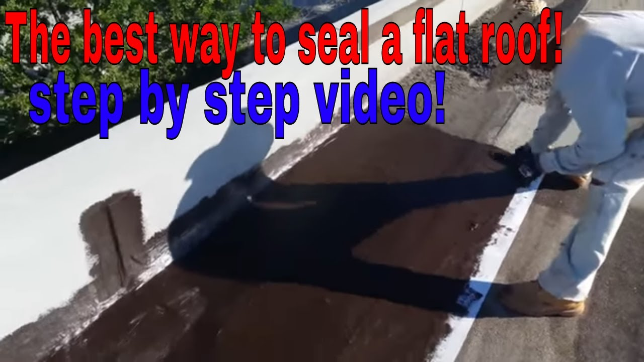 Low Slope Roofing Repairs The Best Way To Seal A Flat