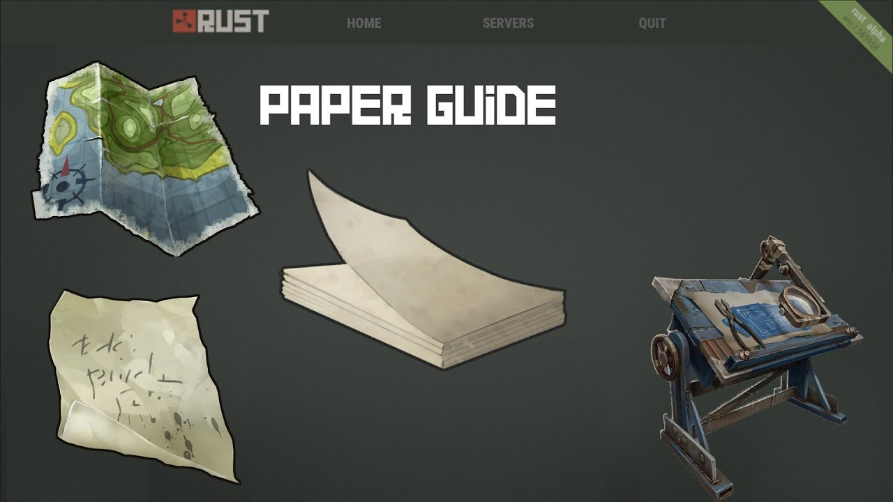 Rust alpha item guide 2 paper youtube malvernweather Choice Image