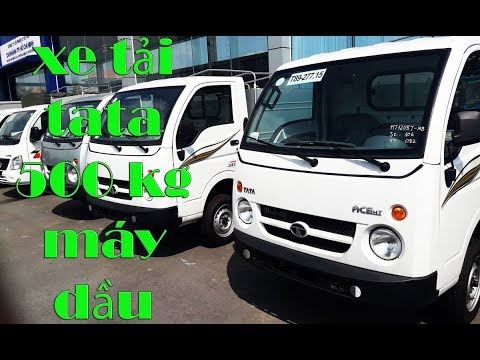 xe tải tata máy dầu 500kg - YouTube