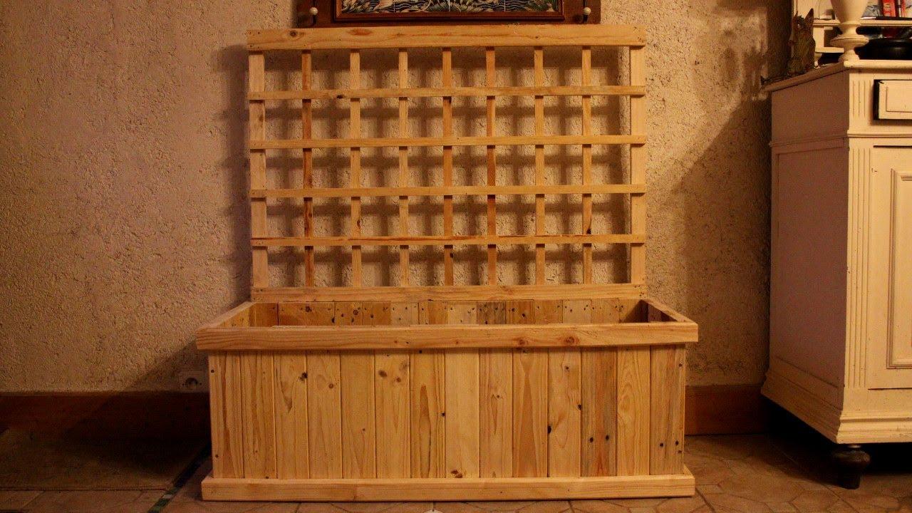 Pallet Wood Trellis Planter For Indoor Food Production Jardiniere Treillis Jardinera Celosia