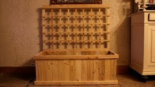 Diy Pallet Wood Trellis Planter For Indoor Food Production. Jardinière Treillis Jardinera Celosía