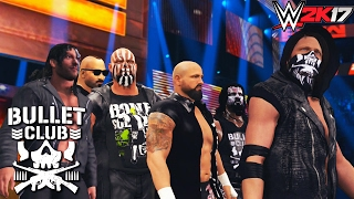 bullet club entrance on raw feat aj styles karl anderson kenny omega gallows more wwe 2k17