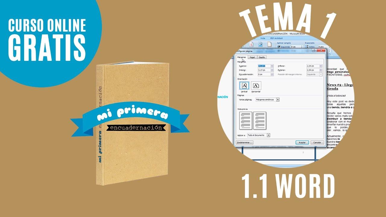 Imprimir libro en word   Tema 1.1   Mi primera encuadernación - YouTube