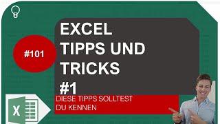Excel Tipps und Tricks #1 I Excelpedia