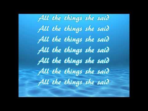 Tatu - All The Things She Said Lyrics | MetroLyrics