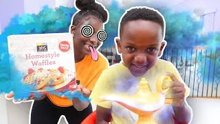 Super Siah HYPNOTIZES Super Mom With MAGIC Lamp To Make BREAKFAST For DINNER!