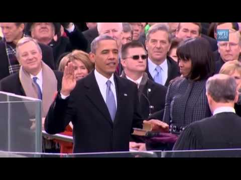 President Barack Obama Takes The Oath Of Office - Sworn Into Office For Second Term