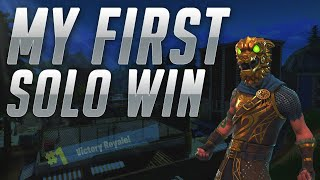 Getting My FIRST EVER Fortnite: Battle Royale SOLO WIN