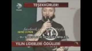 Hayko Cepkin Türk Öğrenci Konseyi Yılın Liderleri Ödülleri En Başarılı Erkek Sanatçı