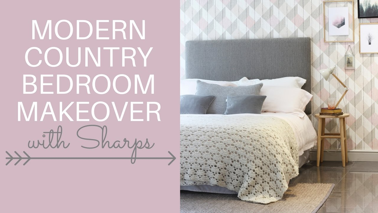 Modern country bedroom makeover at the Sharps showroom | Heather\'s ...